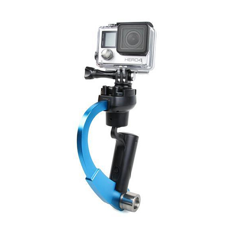 Image 2 - Mini Handheld Camera Stabilizer Video Steadicam Gimbal Suitable For GoPro Hero 7 6 5 SJcam SJ4000 Xiaomi Yi Action Camera-in Stabilizers from Consumer Electronics
