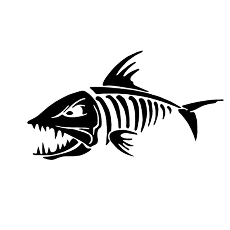 18*10CM Marine FISH BONES Car Sticker Decals Fishbone Personality Motorcycle Car Stickers And Decals C2-0126