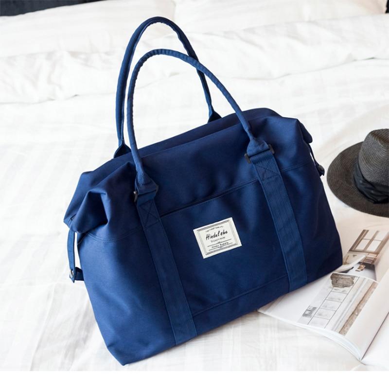 Gaoge Women Travel Bags Boarding Bag Large Capacity Hand Luggage Handbag Fashion Shoulder Bag Weekend Duffel Bag
