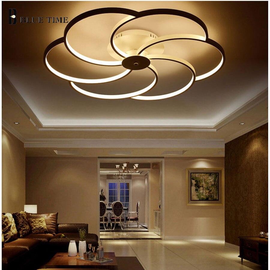 Lámpara LED moderna acrílico lamparas de techo inicio Iluminación ...