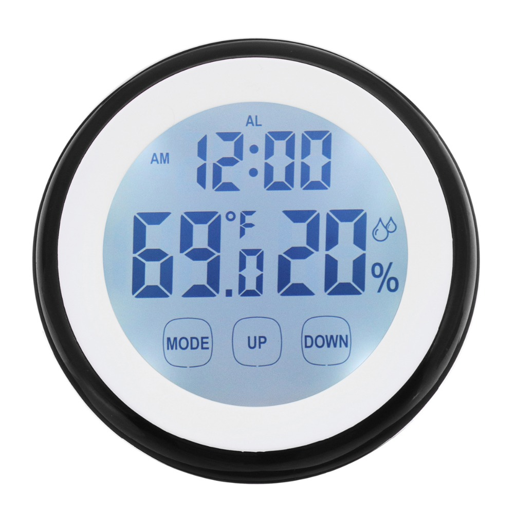 Hot Plastic Digital Temperature Humidity Time Function Wall Clock Indoor Weather Station Meter Tester LCD Backlight Clocks Mini