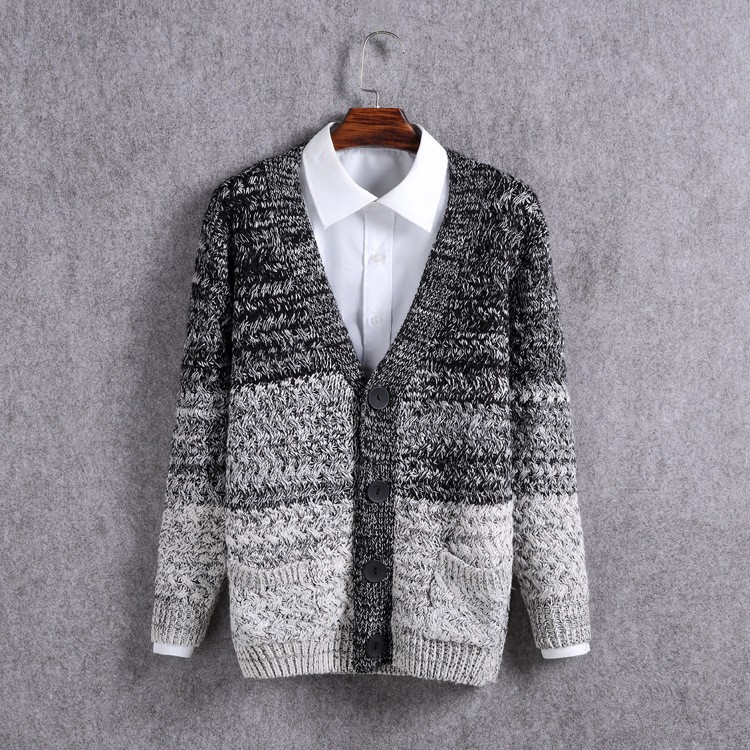 High Quality Mens Sweater New 2015 Autumn Winter Patchwork Cashmere Wool Cardigan Men Sweater Brand Casual V-Neck Mens Clothing (13)