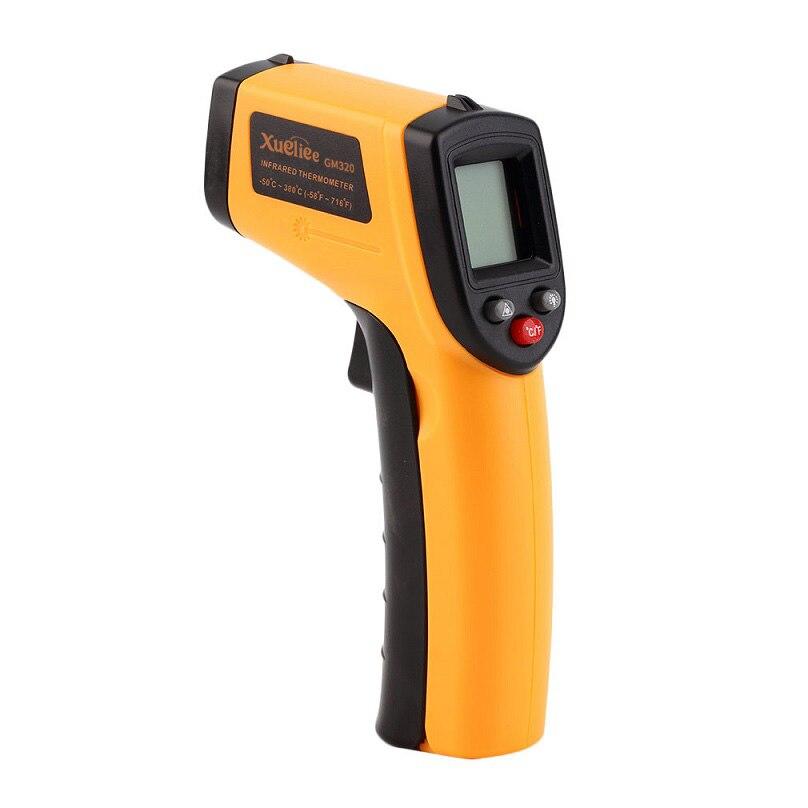Láser LCD Digital termómetros infrarrojos GM320 temperatura Punto-50 ~ 380 grados termómetro casa herramientas al aire libre