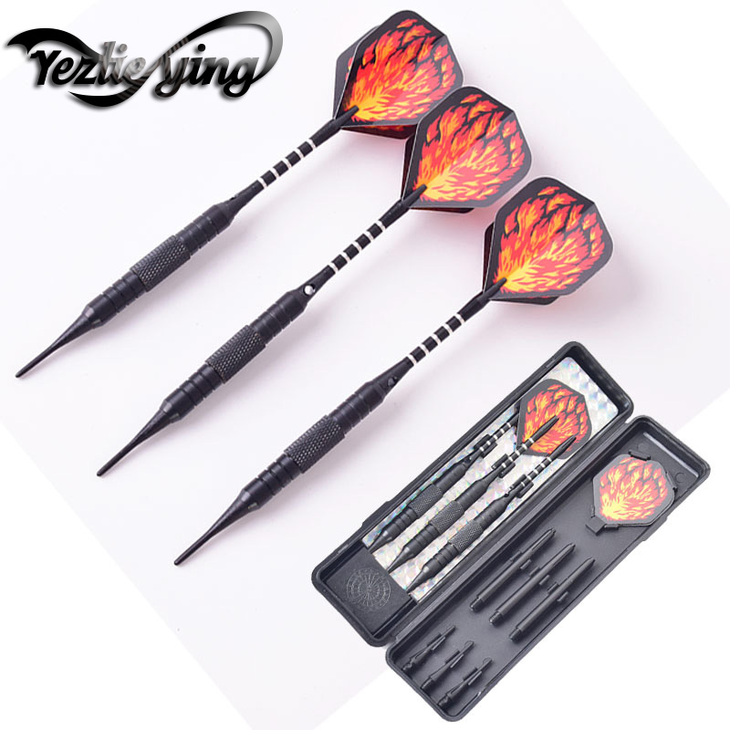 Red Flame 3 Pieces / Set Of Darts Professional 17 Grams Soft Tip Darts Aluminum Tree Beautiful Darts Flight High Quality