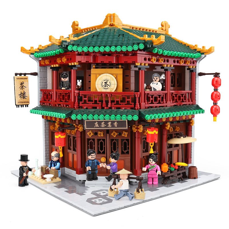 XingBao Blocks Creative Chinese Style Architecture Tea Store Set Educational Building Bricks Toys For Children House Model 01021 - 2