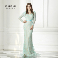 Sexy Backless Long Evening Dress Full Beaded Gown Mermaid Dresses Formal New OL103077