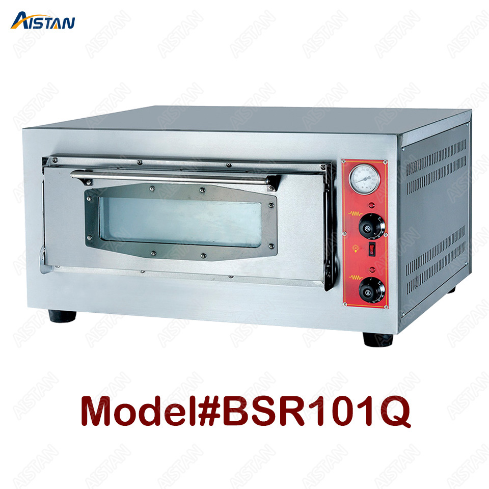 BSR101Q/BSR202Q 1-deck/2-deck commercial gas pizza oven with firestone for baking equipment 1