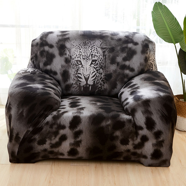 Stretch Sofa Cover Elatic Lion Covers For Living Room Loveseat Furniture Slipcovers Armchairs Couch Set 1pc