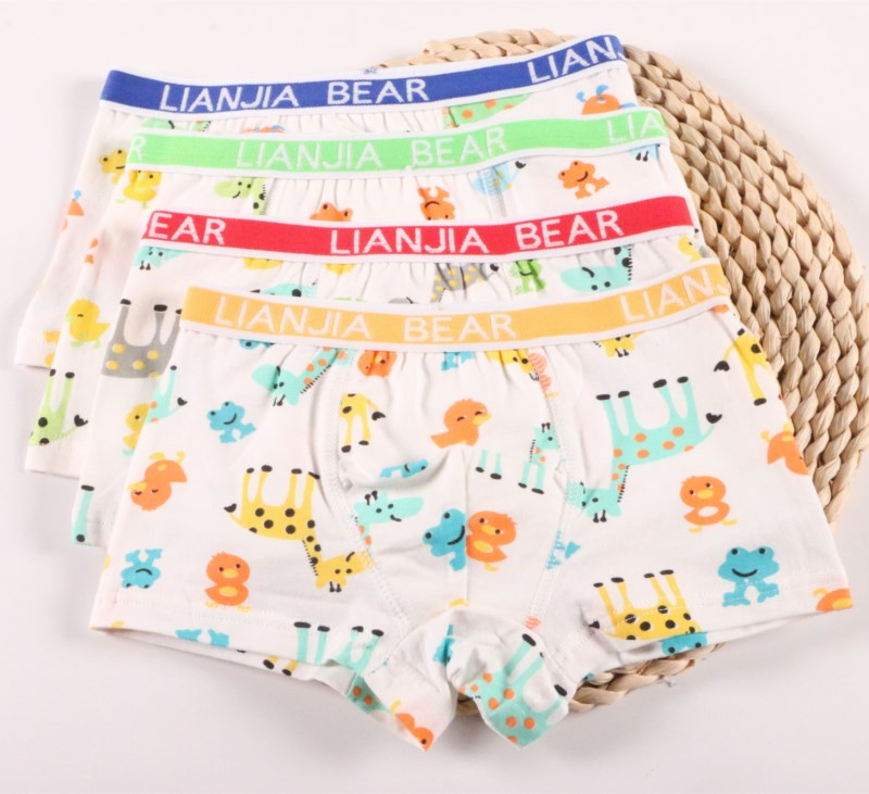 4Pc/pack Kids Boxer Gift Boys Underwear Babys Shorts   Panties   Boys Boxer Children's Underpants Suit 2-10years