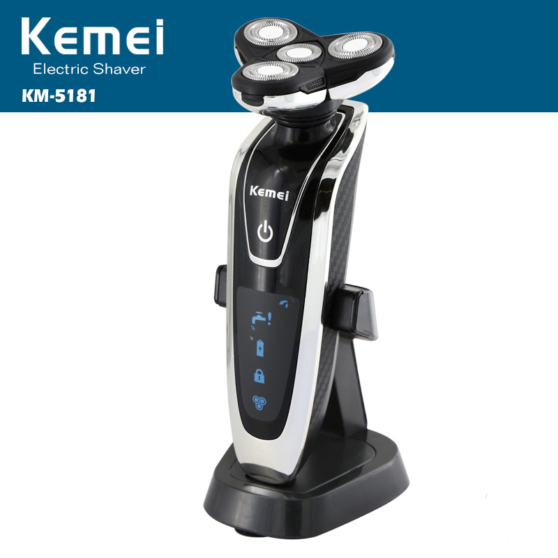 Kemei Rechargeable 4 In 1 Electric Shaver Four Blade Electronic Shaving Razor Men's Face Care 4D Floating Shaver KM-5181 philips brl130 satinshave advanced wet and dry electric shaver