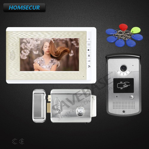 HOMSECUR Delivery From Russia 7inch Hands-free Video Door Entry Call System with Intra-monitor Audio Intercom