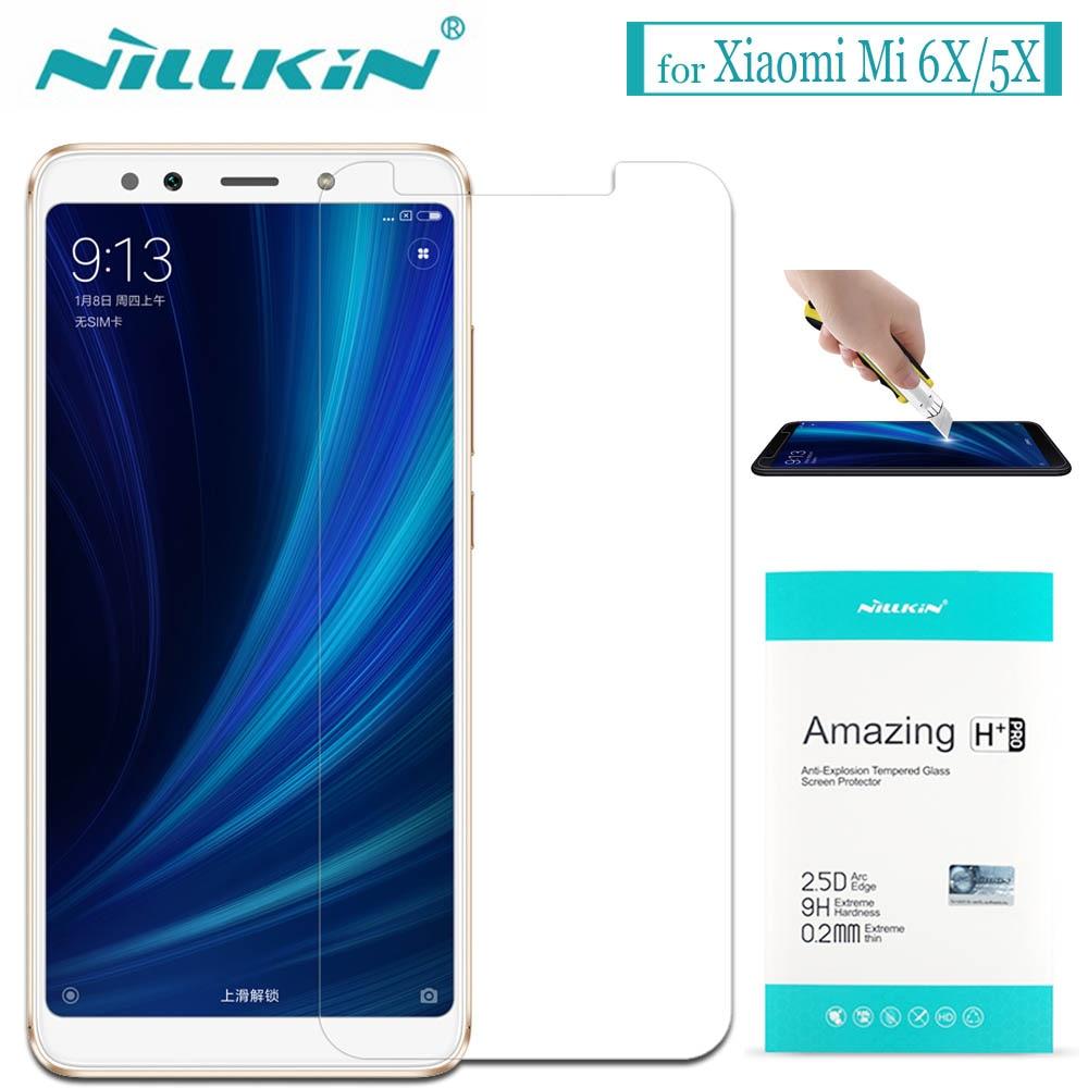 Nilkin per Xiaomi Mi 6X A2/Mi 5X A1 Vetro Temperato Nillkin 9 H Duro Clear Screen Protector Pellicola di Vetro per Xiaomi Mi6X/Mi5X