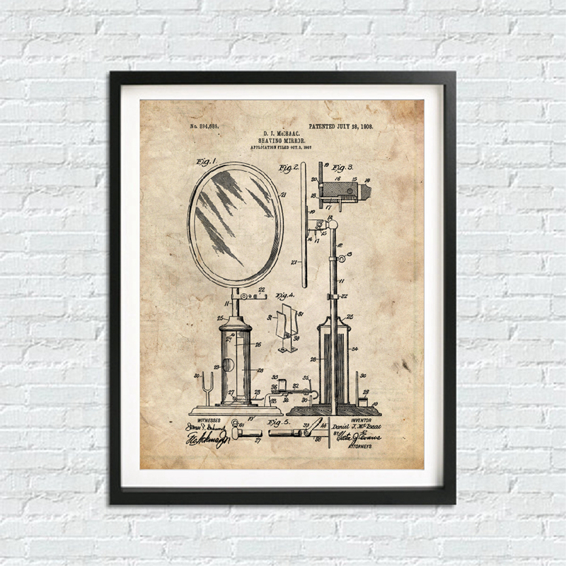 Bathroom Blueprints Canvas Print