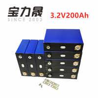 16Pcs/Lot Deep Cycle 200AH lifepo4 battery 3.2v 200AH 3C high discharge  600A current for diy 12V 24V 100ah 200ah  for pack EV