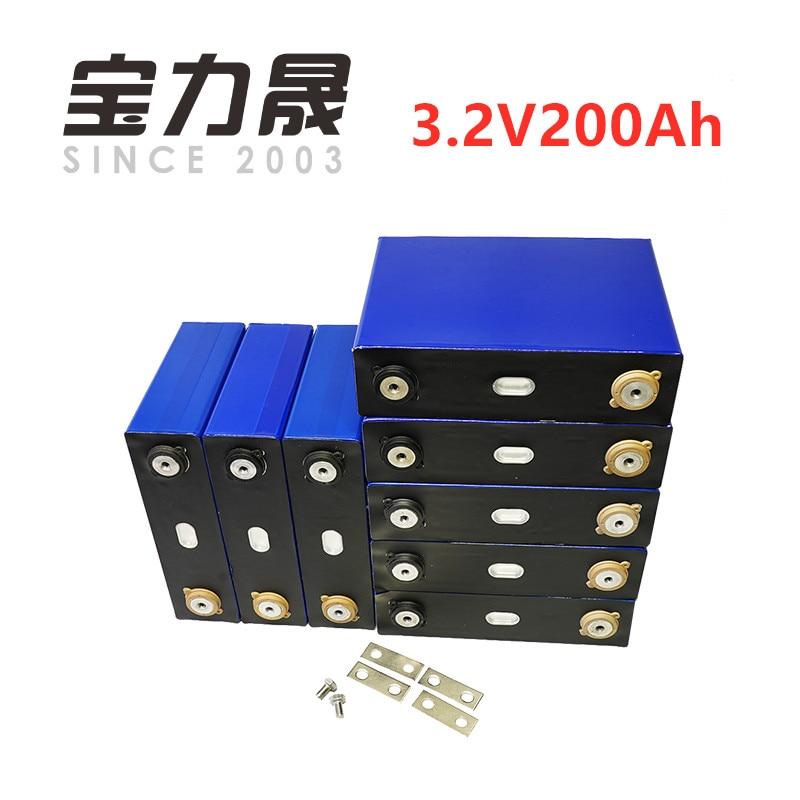 8 Pcs/Lot Cycle profond 200AH lifepo4 batterie 3.2 v 200AH 3C décharge élevée 600A courant pour bricolage 12 V 24 V 100ah 200ah pour pack EV