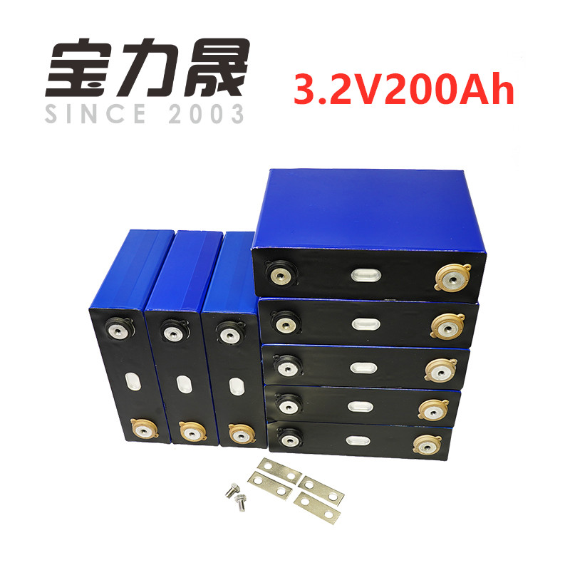 8 pçs/lote 200AH lifepo4 3.2 v bateria de Ciclo Profundo 200AH 12 V 24 600A 3C alta descarga de corrente para diy V 100ah 200ah para pack EV