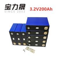 8Pcs/Lot Deep Cycle 200AH lifepo4 battery 3.2v 200AH 3C high discharge 600A current for diy 12V 24V 100ah 200ah for pack EV