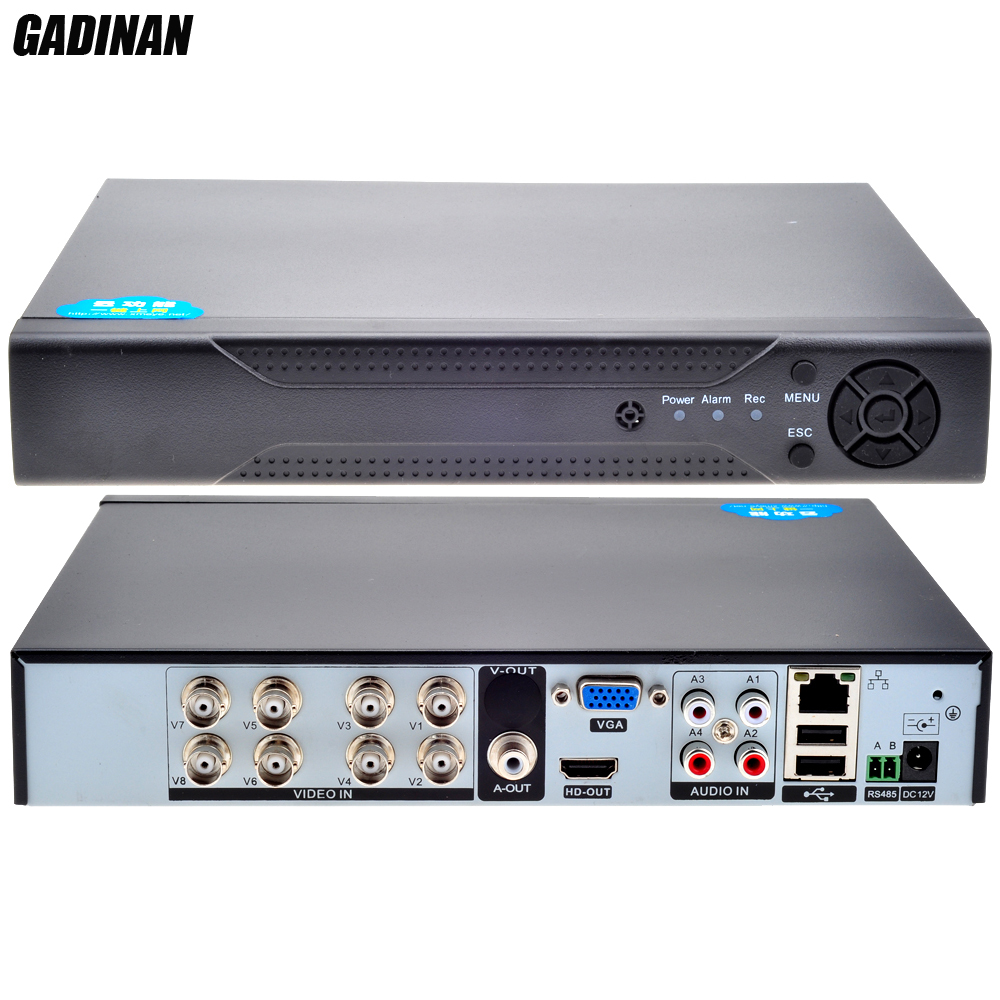 ФОТО Gadinan 4CH/8CH AHD-NH AHDNH DVR AHD-M DVR/1080P TVI CVI AHD DVR 5 IN 1 HDMI Output 4CH Audio In For AHD AHDH CCTV Camera