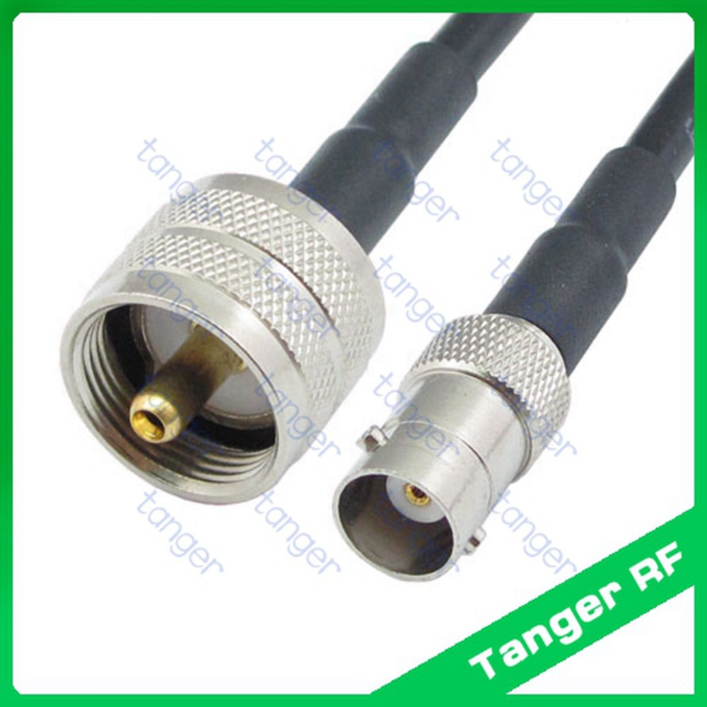 Hot selling BNC female jack to UHF male plug PL259 SL16 straight RF RG58 Pigtail Jumper Coaxial Cable 40inch 100cm High Quality hot selling tanger bnc female jack 4four hole panel to uhf male plug pl259 sl16rf rg58 pigtail jumper coaxial cable 40inch 100cm