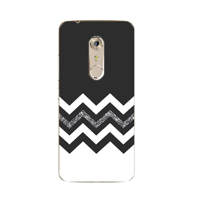 ل ZTE النوبة Z17 ميني تي بي يو جراب هاتف ل Axon 7 / 7 غطاء صغير رقيقة جدا ل النوبة Z9 ماكس سيليكون شل الأسود والأبيض نمط