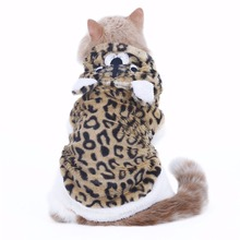 Leopard Print Hoodie for Cats