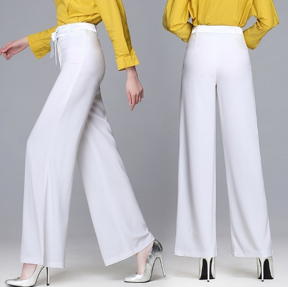 Female Summer Wide Leg Work Pants Women OL Plus Size 6XL Formal Pants Work Wear Black White Red Pink Pants Women Bell Bottom