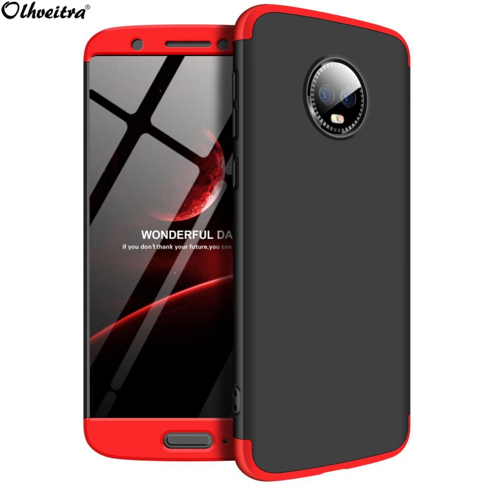 360 Degree Full Cover For Motorola Moto G6 G7 Plus Case 3 In 1 PC Protector Case For Motorola Moto G6 G7 Plus Phone Accessories