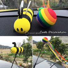 Car-Styling Cute Car Roof Antenna Animal Balls  Cartoon Decoration Accessories for smart 451 fortwo 453 forfour