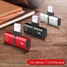 2 in 1 Earphone Charging Converter for iPhone X 8 8Plus 7 7Plus Dual Jack Audio