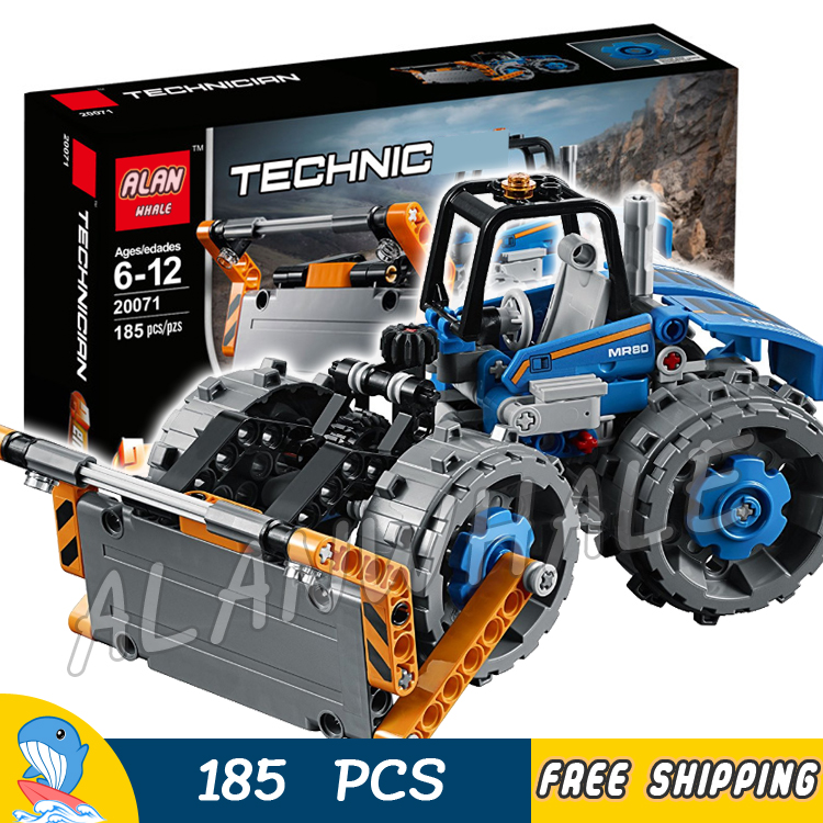 185pcs 2in1 Techinic Advanced Dozer Compactor Articulated Truck 20071 DIY Model Building Blocks Toys Bricks Compatible With lego