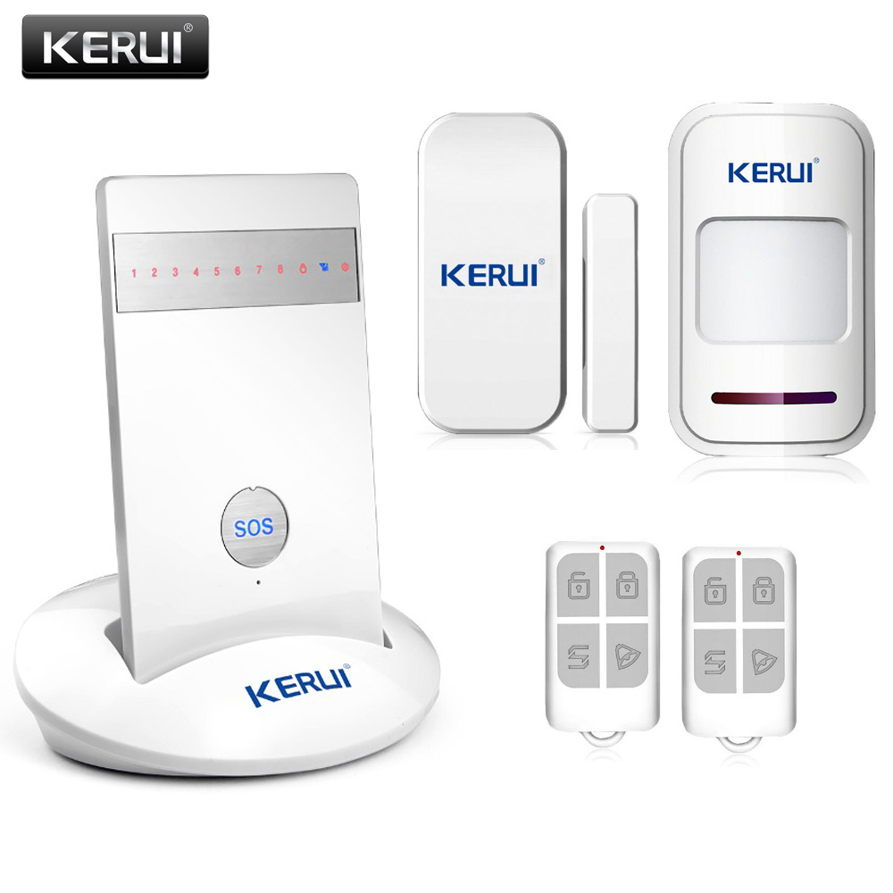 ФОТО Wireless IOS Android App Voice Control Quad-band LED GSM Alarm Systems Security Home Emergency GSM Alarm PIR Detector KR-G15