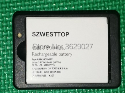 SZWESTTOP original AB1630DWMC battery+desktop For philips W536 S307 cellphone AB1630DWMT for XENIUM CTS307 CTW536 smart phone