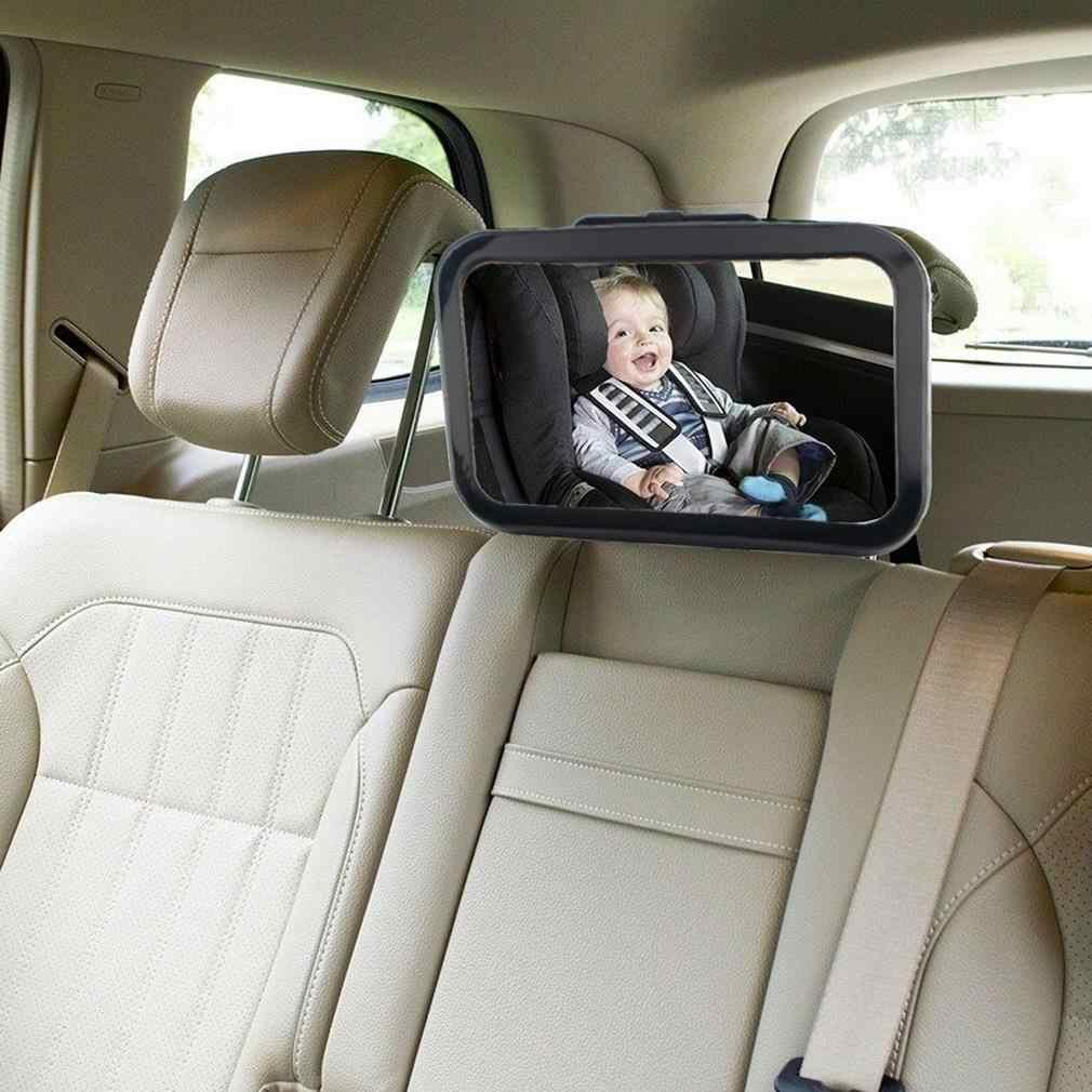 Sabuk Yang Dapat Disesuaikan Kembali Kursi Mobil Dalam Cermin Square Menghadap Belakang Headrest Mount Cermin Bayi Anak-anak Monitor Mobil Styling