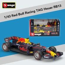Bburago 1 43 2017 F1 de Fórmula 1 de Red Bull Racing etiqueta Henuer RB13  n° 33 n° 3 Max Verstappen coches de fundición de Metal. 592608afe46