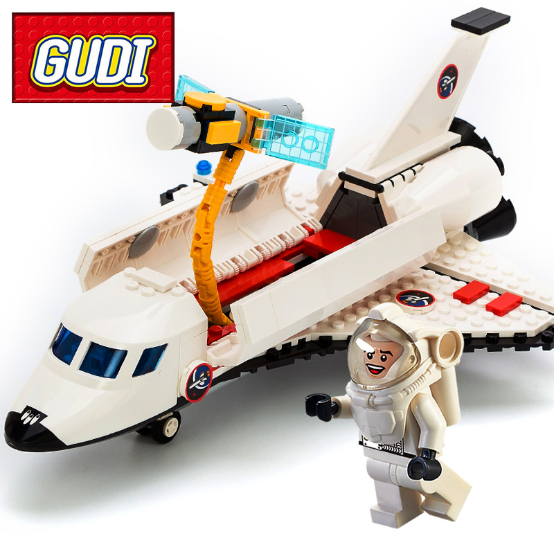 GUDI 8814 City Space Shuttle Blocks 297pcs Building Block Sets Kids DIY Bricks Educational Toys For Children Christmas Gift decool 3118 city 285pcs architect changed 3 in 1 space shuttle explorer building block diy toys educational kids gifts