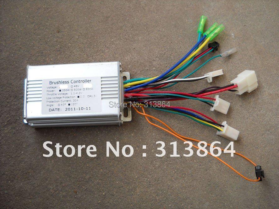 Цена за Бесплатная Доставка GREENTIME 36 В/48 В 350 Вт/250 Вт BLDC контроллер двигателя e велосипед безщеточный регулятор скорости
