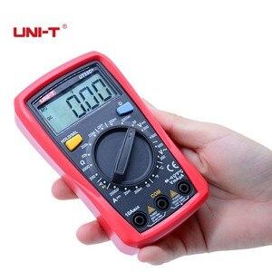 Image 3 - Palm boyut dijital multimetreler UNI T UT33C + profesyonel elektrik el Tester LCR metre ampermetre Multitester 40 1000C