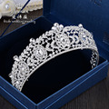 new art form alloy insert large sparse bridal crown wedding hair accessories decorated bridal head tiara
