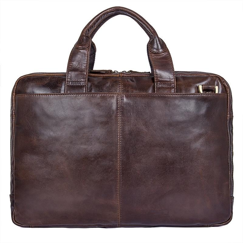 Schulter Große Reise Tasche Klassische Messenger Laptop Umhängetasche Leder dark Brown Echtem Männer Business Rindsleder Coffee brown Handtasche Retro Aktentaschen Ct6qnO