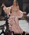 Ph15741 Zuhair Murad de encaje blanco completo body bustier de satén capa + pantalones de la Alfombra Roja Vestidos de La Celebridad de Beyonce