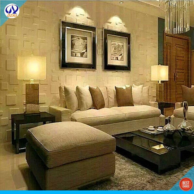 Living room 3D stereo bedroom PVC Decorative Wallpaper DZAS-CJ Panel