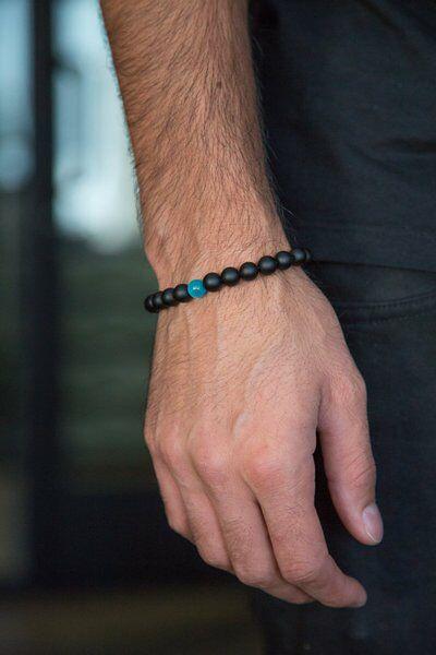 Water Drop Bracelet - Semi-Precious Natural Stones (8mm) - Handmade Genuine Quality Onyx Bracelet 3