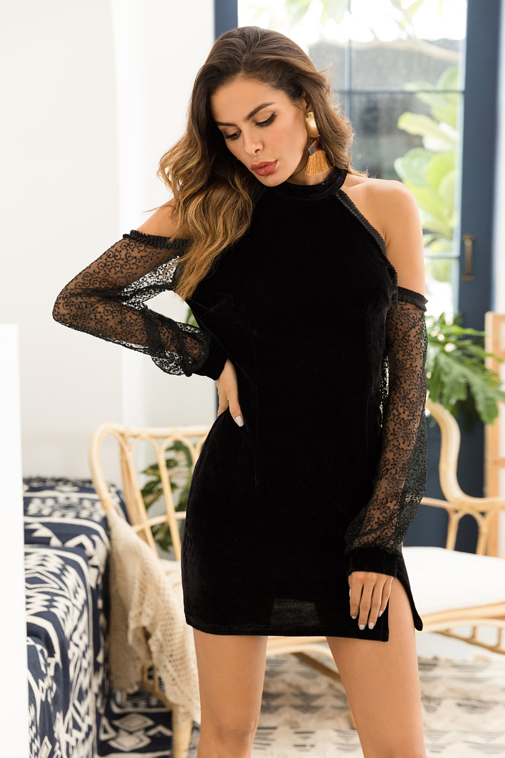 Women's Clothing Vintage Diamonds Dresses For Women V Neck Sleeveless Off Shoulder Suspender High Waist Mesh Dress Fashion Clothes R172 Fixing Prices According To Quality Of Products