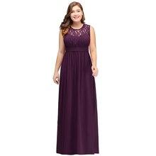 Robe demoiselle d'honneur Cheap Purple Chiffon Plus Size Bridesmaid Dre
