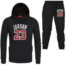 2019 nueva marca de moda JORDAN 23 hombres ropa deportiva de los hombres  sudaderas con capucha + traje de pantalones Hip Hop hom. 2d233458938