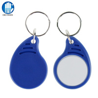 New Style Entry Access 13.56MHz Smart IC MF 1K S50 M1 RFID Key Tags NFC Key Ring Keychain Token Waterproof ISO 14443A (100pcs)