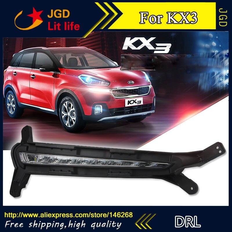 Бесплатная доставка ! 12В 6000K СИД DRL дневного света для Kia KX3 2015 2016 противотуманная фара стайлинга автомобилей