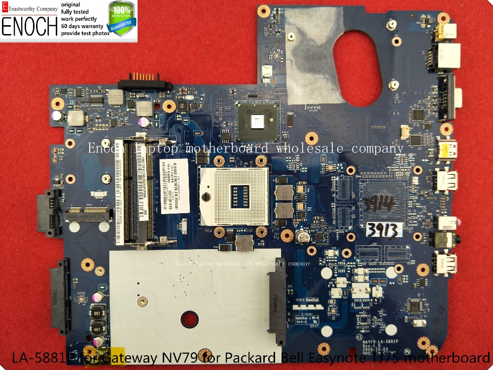LA-5881P for Gateway NV79 for Packard Bell Easynote TJ75 MB.WHH02.001 NAYF0 Laptop motherboard main board store No.310