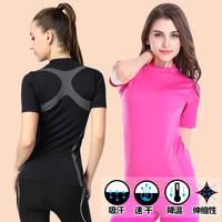 Female Summer Clothes Women Fitness Sports Suits Quick Dry Tops Running Shirt Bodybuilding Clothing Jogging Gym