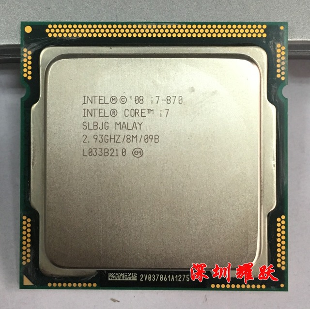 Intel Core i7 870  i7 870   Processor (8M Cache, 2.93 GHz) LGA1156 Desktop CPU